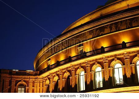 Royal Albert Hall At Night