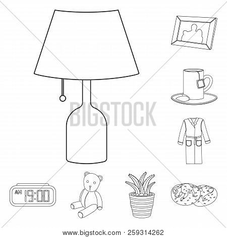 Isolated Object Of Dreams And Night Icon. Set Of Dreams And Bedroom Stock Vector Illustration.