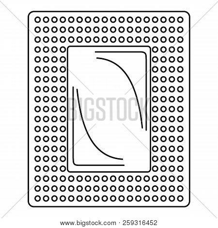 Contraceptive patch icon. Outline illustration of contraceptive patch icon for web design isolated on white background poster