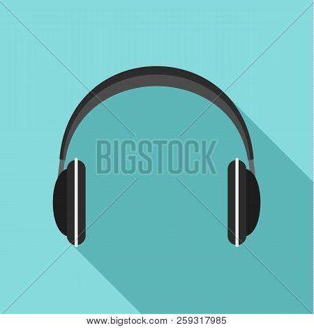 Wireless Headphones Icon. Flat Illustration Of Wireless Headphones Icon For Web Design