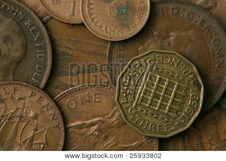 Old coins of the United Kingdom Texture poster