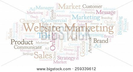 Word Cloud With Text Website Marketing. Wordcloud Made With Text Only.