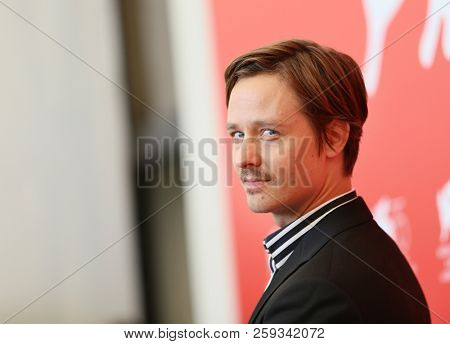 Tom Schilling attends 'Werk Ohne Autor (Never Look Away)' photocall during the 75th Venice Film Festival at Sala Casino on September 4, 2018 in Venice, Italy.