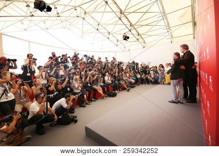 Photographers attends'Werk Ohne Autor (Never Look Away)' photocall during the 75th Venice Film Festival at Sala Casino on September 4, 2018 in Venice, Italy.