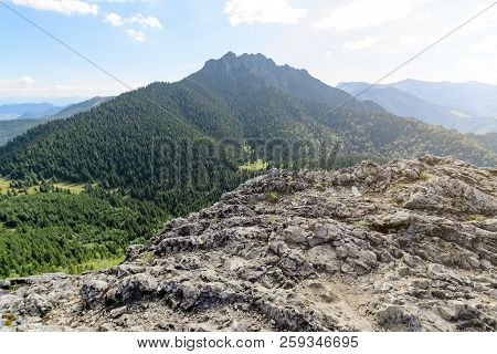 Great (big) Rozsutec Hill, View From The Little Rozsutec Hill In The National Park Mala Fatra, Slova