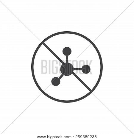 Nitrate Free Food Label Vector Icon. Filled Flat Sign For Mobile Concept And Web Design. Solid Icon.
