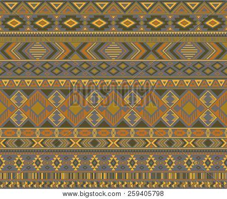 Peruvian American Indian Pattern Tribal Ethnic Motifs Geometric Vector Background. Beautiful Native