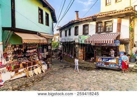 Bursa, Turkey - September 01, 2018 : 700 Years Old Ottoman Village Cumalikizik. It Is Popular With S