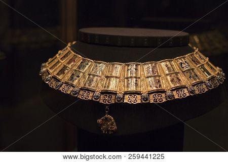 Vienna, Austria - 3 September 2018, : Treasury Of The Habsburg Dynasty Museum Hofburg Palace In Vien