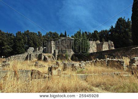 Ancient ruins of Greek Academy on Kos island