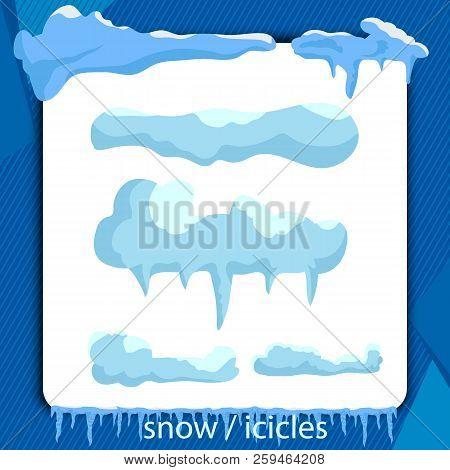 snow ice icicle set vector photo free trial bigstock