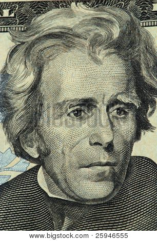 Jackson portrait from a twenty dollar banknote