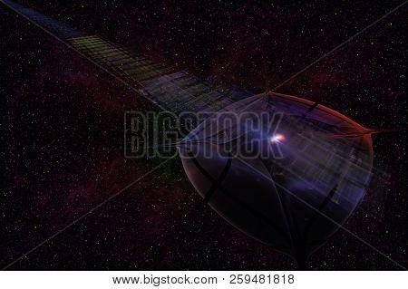 Abstrct Digital Artwork. Ufo.