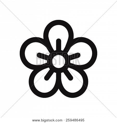 Flower Icon Isolated On White Background. Flower Icon In Trendy Design Style. Flower Vector Icon Mod