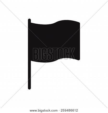 Flag Icon Isolated On White Background. Flag Icon In Trendy Design Style. Flag Vector Icon Modern An