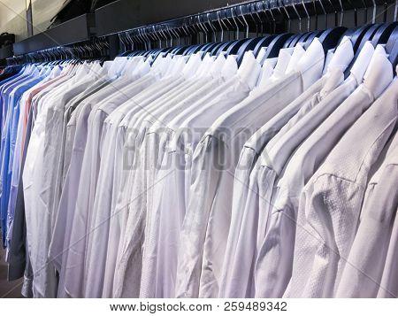 Shop of men's shirts ,Business clothes,