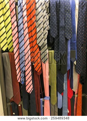 Neck Colorful ties on hanging