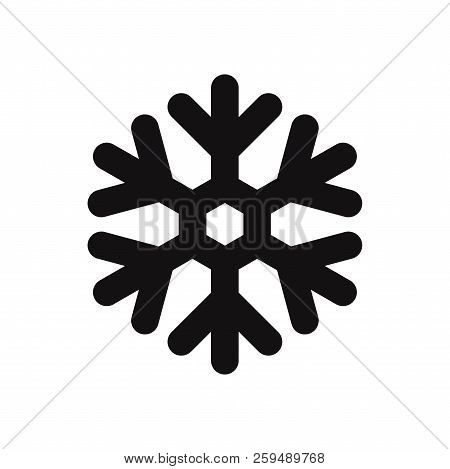 Snowflake Icon Isolated On White Background. Snowflake Icon In Trendy Design Style. Snowflake Vector