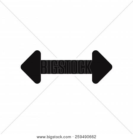 Horizontal Resize Option Icon Isolated On White Background. Horizontal Resize Option Icon In Trendy