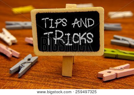 Conceptual Hand Writing Showing Tips And Tricks. Business Photo Showcasing Suggestions To Make Thing