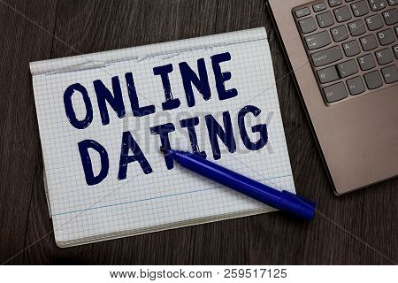 Conceptual Hand Writing Showing Online Dating. Business Photo Text Searching Matching Relationships