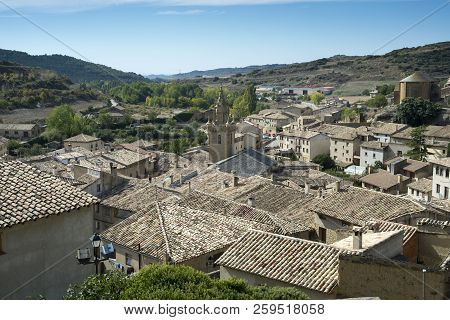 Views Of Uncastillo. It Is A Historic Town And Municipality In The Province Of Zaragoza, Aragon, Eas