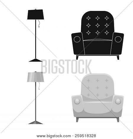 Vector Illustration Of Furniture And Apartment Icon. Collection Of Furniture And Home Vector Icon Fo