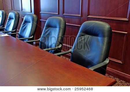 Head Office Boardroom With Leather Chairs