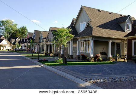 Modern Single Family Homes On A New Street
