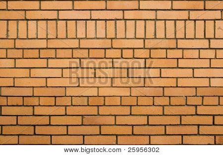 Real yellow brick wall texture, good background