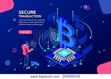Server Processing Data Backup, Software Hacking Or Lock Hardware. Virtual Rich Transaction Monetary