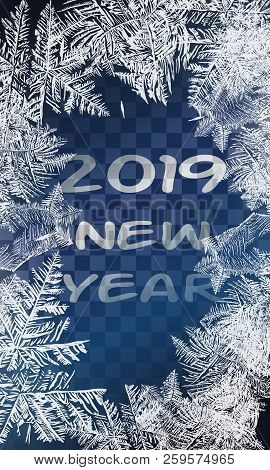 2019 Textures Blue Ice. Ice Rink. Winter Background. Overhead View. Vector Illustration Nature Backg