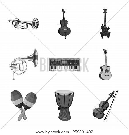 Vector Design Of Music And Tune Symbol. Set Of Music And Tool Vector Icon For Stock.