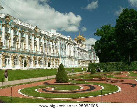 Yekaterinksy Palace at Tsarskoe Syolo (Pushkin) in Russia
