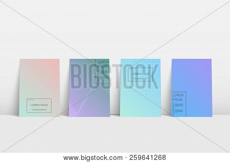 Abstract Booklet. Abstract Art Space Colorful Dynamic Background. Abstract Modern Graphic Elements.