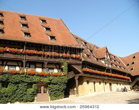 Tipical Bavarian houses in Bamberg, Germany, Europe