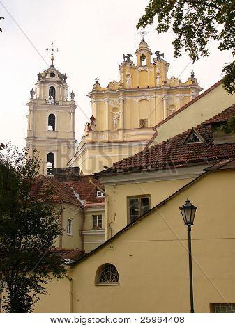 Churches in Vilnius, Baltic, Europe