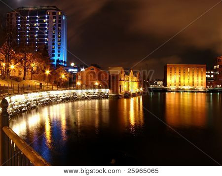 Night view of Tampere, Finland, Europe