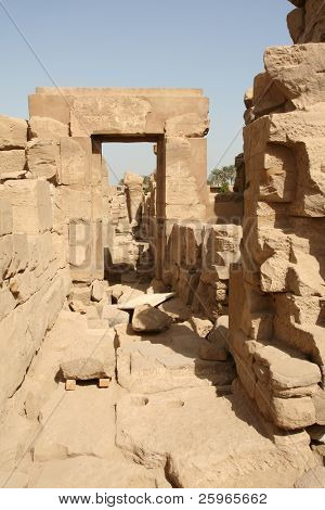 Old ruins in the Temple of Amon-Re, Karnak, Luxor, Egypt