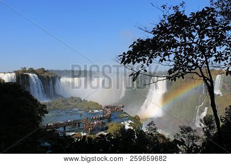 Iguazú Falls Or Iguaçu Falls Spanish: Cataratas Del Iguazú Are Waterfalls Of The Iguazu River On The