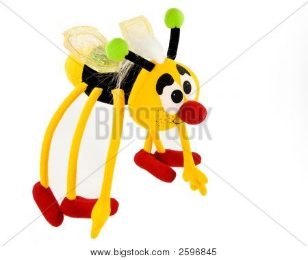 Colorful Soft Toy On White Background With Clipping Path