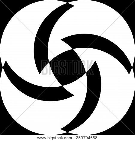 Abstract Arabesque Fan Spinder Negative Space Design Black On Transparent Background