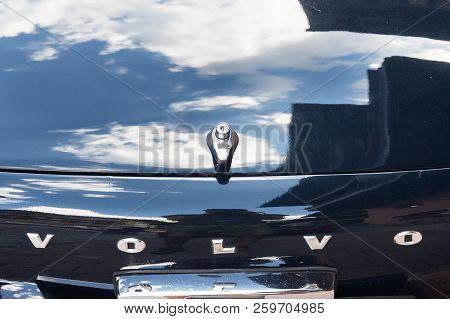 Saalbach-hinterglemm, Austria - June 21 2018: Vintage Car Volvo P 1800 S Oldsmobile Veteran Produced