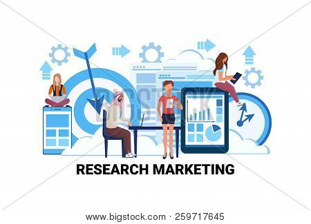 Business People Brainstorming Market Research Percentage Marketing Strategy Concept Financial Graph