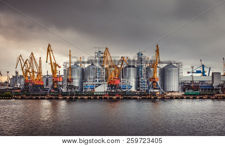Marine Industrial Commercial Port In Odessa, Ukraine