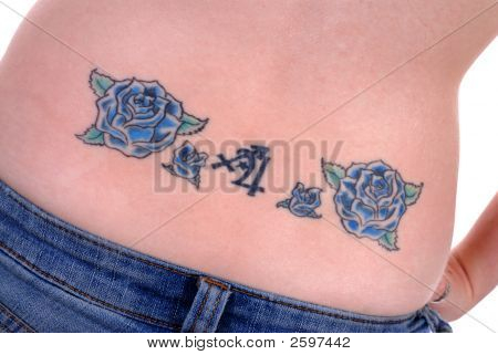 Back Tattoo On Young Woman