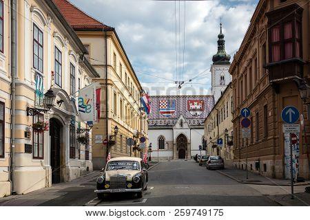 Cirilometodska Street In Zagreb, Croatia