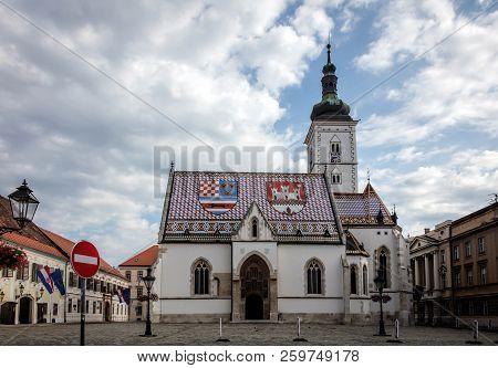 The Church Of St. Mark In Zagreb, Croatia