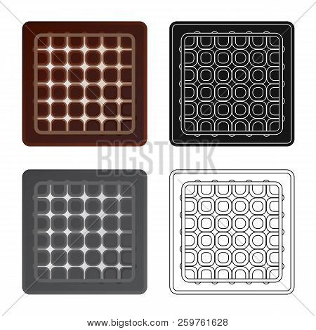Isolated Object Of Biscuit And Bake Logo. Collection Of Biscuit And Chocolate Stock Vector Illustrat