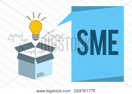 Word Writing Text Sme. Business Concept For Company With No More Than 500 Employees Small Medium Ent